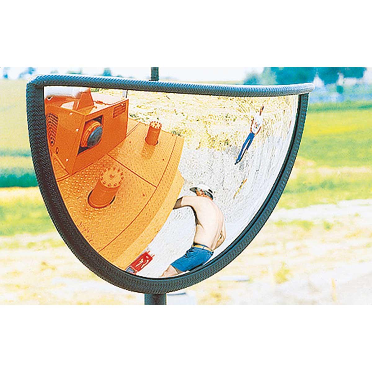 Espejos convexos para carretillas y otras máquinas pesadas.