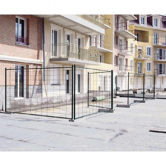 Vallas de malla galvanizadas para obras y almacen