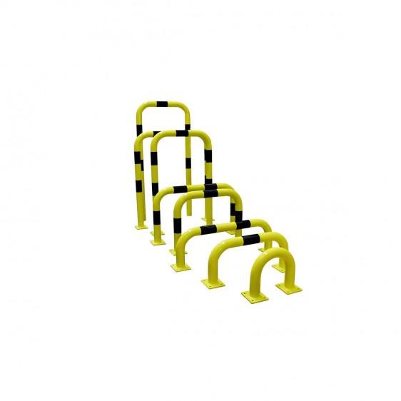 Protecciones metálicas de alta resistencia para estanterías y maquinaria