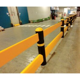 Barandilla protectora para zonas de tránsito de vehículos