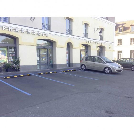 Tope de caucho para parking