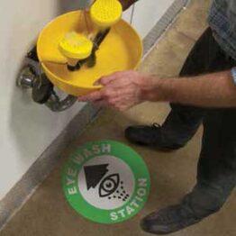 adhesivo de advertencia para suelo