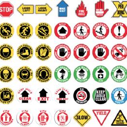 señalización de seguridad para suelo
