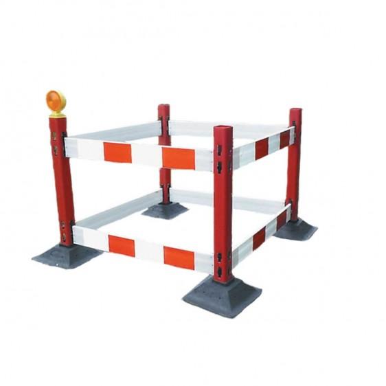 Barreras ensamblables para señalización o bloqueo temporal
