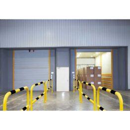 Barandillas para estanterías, zonas peatonales, máquinas..