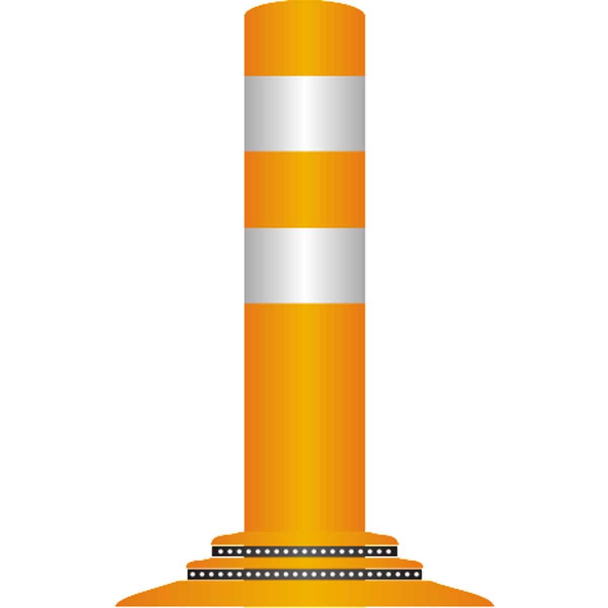 Pilonas flexibles de fijación con adhesivo epoxy para delimitación de zonas peatonales, vados...