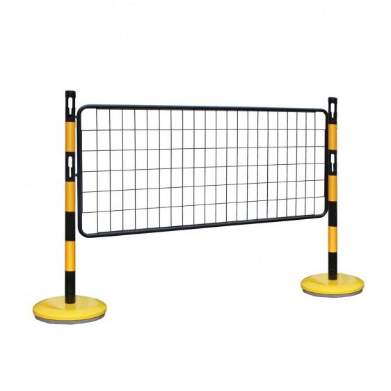 Kits de postes de señalización con barreras de malla
