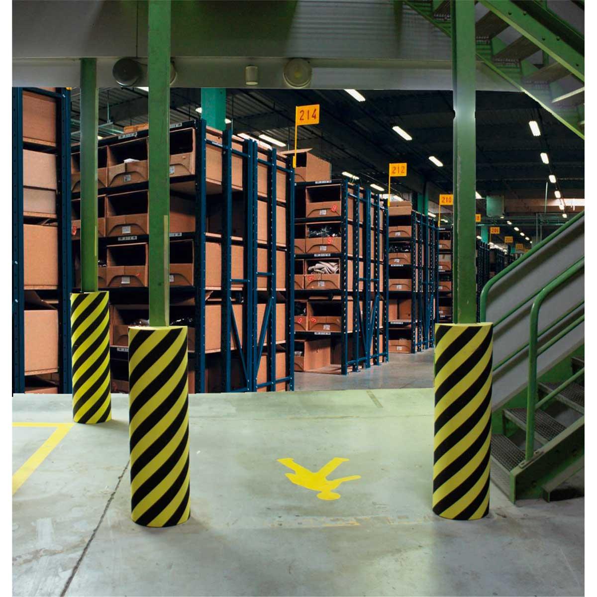 Protecciones de espuma para columnas o perfiles cuadrados
