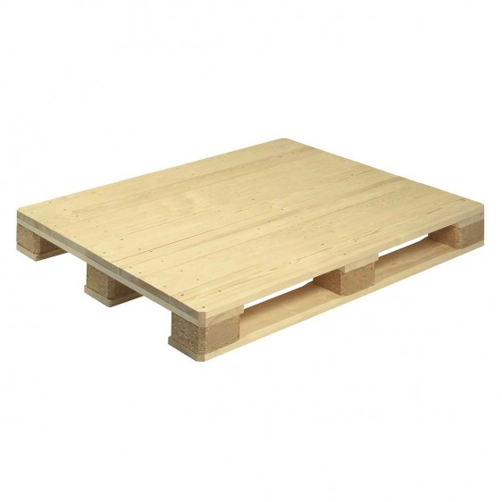 Palés de madera con base lisa