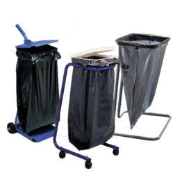 Bases metálicas y plásticas para bolsas de residuos