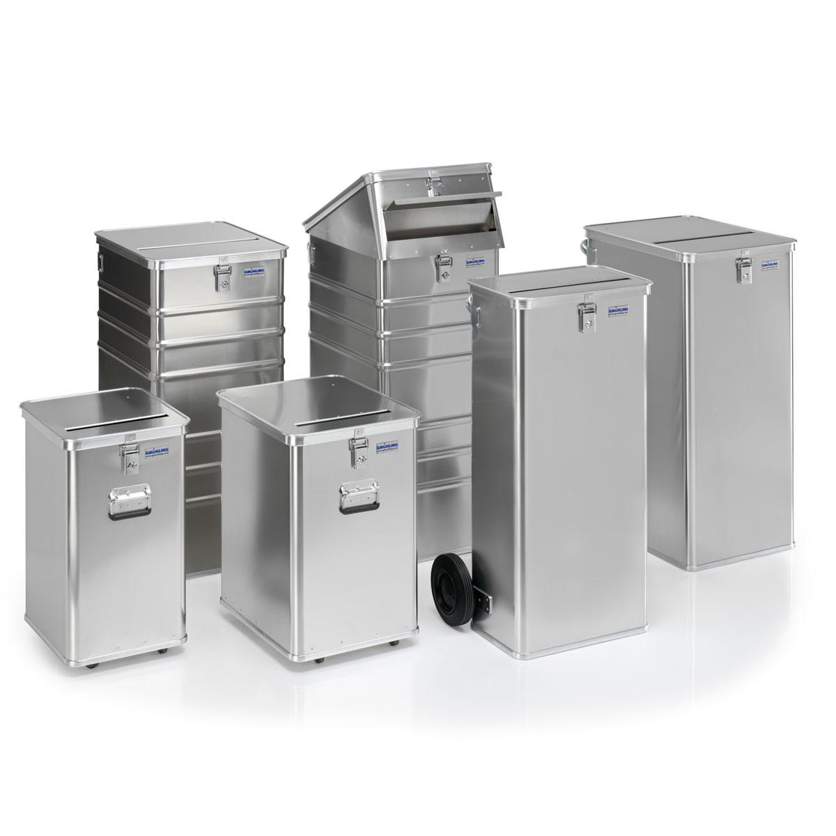 Papeleras de aluminio de seguridad