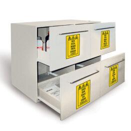 Armarios de seguridad en PE para productos altamente agresivos