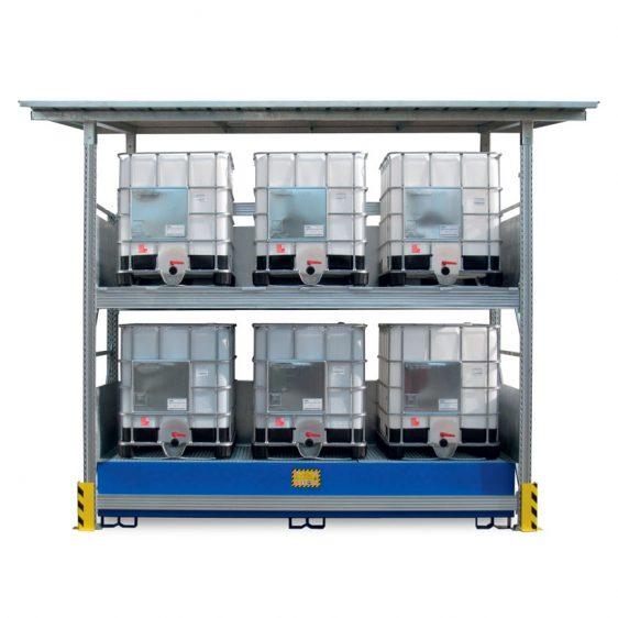 Estanterías para almacenamiento exterior de bidones y KTC's