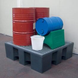 Soporte reversible para bidones de 60 y 200 litros