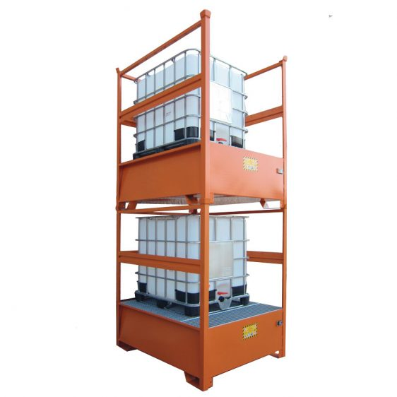 Cubetos de retención apilablesen acero para KTC/IBC