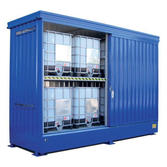 Contenedores para almacenamiento exterior de productos peligrosos