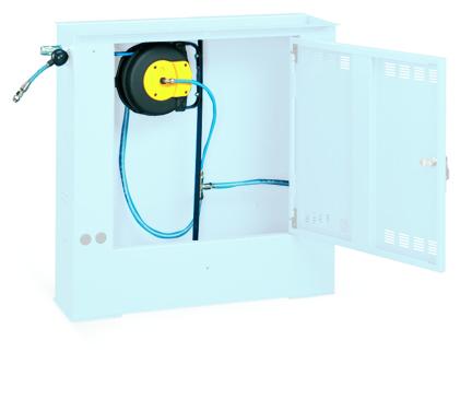 Toma de conexión neumática y enrollador automático