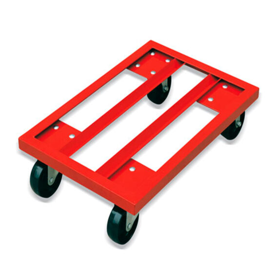 Base metálica rodante para cajas